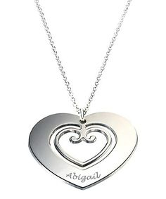 Sterling Silver Personalized Holy Heart Pendant Necklace by Petits Trésors #zulily #zulilyfinds