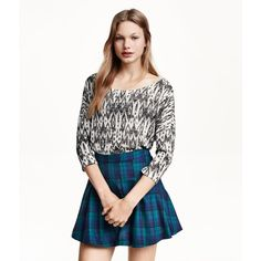 H&M Pleated skirt (30 CAD) ❤ liked on Polyvore