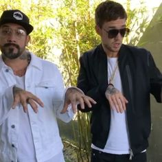 Backstreet Boy A.J. McLean and One Direction member Liam Payne meet up