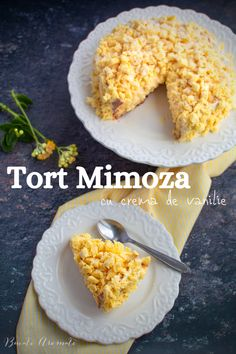 🌾🌾🌾 Tortul Mimoza este un desert pe care italienii îl fac de 8 Martie. Are un blat de pandișpan, umplut cu multă cremă de vanilie. Un tort delicios, cu un aspect deosebit care amintește de florile de mimoză care înfloresc primăvara. Bathroom Organisation, Deserts, Sweets, Goals, Cakes, Breakfast, Recipes, Food, Pie