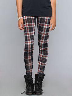 Nevermind Plaid Leggings - Black - Clothes | GYPSY WARRIOR