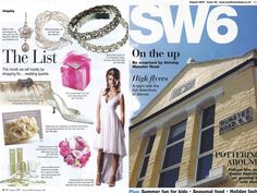 SW6 Magazine with Lizzie dress