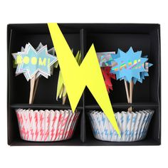 Cupcake-Set Superheld hygge shop 12,90€