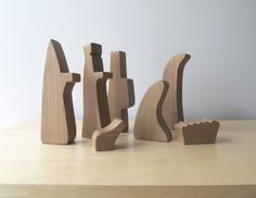 modern nativity set, etsy