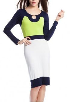European High-End Women Boutique Dress Stitching Slim Waist Dress