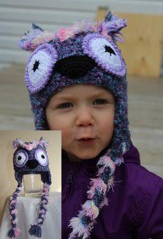 Odo the Owl Animal Hats, Crochet For Kids, Infant, Owl, Crochet Hats, Children, Unique, Handmade, Character