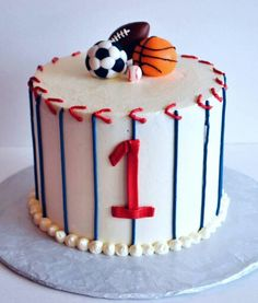 6 inch Sports themed smash cake