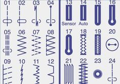 Comprendre tous les points de votre machine à coudre Sewing machines offer a multitude of possible points. They are here classified by type of points. Sewing Hacks, Sewing Tutorials, Sewing Crafts, Sewing Patterns, Sewing Tips, Diy Couture, Couture Sewing, Techniques Couture, Sewing Techniques