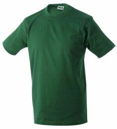 Round-T Shirt Heavy/James & Nicholson (JN 002) S M L XL XXL 3XL 4XL 5XL dunkelgrün,5XL