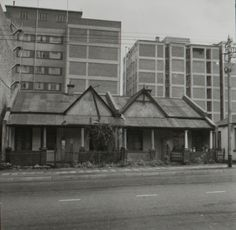 Semis in Braamfontein from the late soon to be demolished Johannesburg City, South African Art, Historical Pictures, Amazing Places, The Good Place, 1960s, Cities, Southern