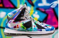 Nike LeBron X 'Shattered Prism' Customs