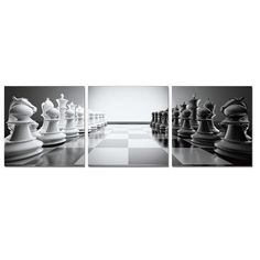 Found it at Wayfair - Chess 3 Piece Framed Photographic Print Set