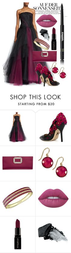 """""""Get the Look: Met Gala 2016"""" by mellifluousdawn ❤ liked on Polyvore featuring Oscar de la Renta, Paul Andrew, Roger Vivier, Suzanne Kalan, Effy Jewelry, Lime Crime, Smashbox, Gorgeous Cosmetics, Chanel and GetTheLook"""