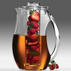 Enjoy flavor-infused beverages made naturally at home with the Prodyne Fruit Infusion Pitcher.