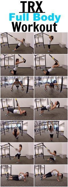 7 Exercises for a full body TRX workout! #fullbodyworkouts