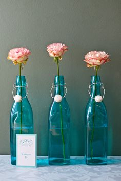 #styledshoot #proposepr #pr #tiffanyblue www.proposepr.com Tiffany Blue, Glass Vase, Centerpieces, Arts And Crafts, Teal, Bottle, Flowers, Pink, Home Decor