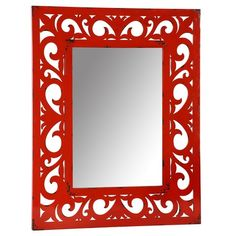 Wall Mirrors Swirls Flower Forward Earth De Fleur Homewares Red Swirl