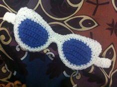 Crochet Eyes, Crochet Mask, Crochet Chart, Crochet Gifts, Knit Crochet, Crochet Patterns, Crochet Decoration, Yarn Bombing, Tear