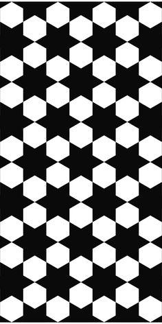 Repeat monochrome hexagonal vector hexagram pattern design background