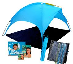 Beach Tent canopy Saturn: shades better than umbrella! 4 people Shade shack, easy up sports cabana, waterproof rain & Sun shelter for kids & adults, outdoor UV protection sunshade for sporting events Baby Beach Tent, Beach Canopy, Canopy Tent, Canopies, Hiking Tent, Camping And Hiking, Tent Camping, Camping Ideas, Kids Picnic