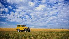 Restored Toyota LandCruiser BJ42 FJ40 Toyota #LandCruiser #FJ40 #BJ42 #BJ40 #Vintage #Vintage4x4 #Restored #MustardYellow