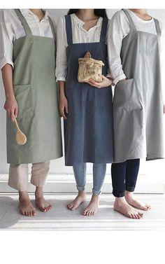 Linen apron for women men Japanese linen Pinafore apron pockets cross back no tie apron unisex gardening cooking Korean apron dress apron Pinafore Apron, Korean Products, Linen Apron, Apron Designs, Apron Pockets, Apron Dress, Indie Brands, Dance Dresses, Korean Fashion