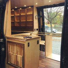 So far the extra slider door on the drivers side has been a big plus. #vanlifeideas #doubledeckerdoublewide