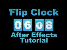 ▶ Flip Clock Countdown and Up - Adobe After Effects tutorial - YouTube