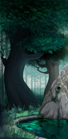 forest by ~Ryzhaia on deviantART Amazing vector drawing. The techniques (whatever they are) to get all those delightful textures simply blows my mind.