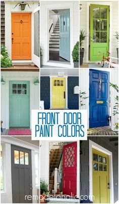 Front Door Paint Colors @Remodelaholic