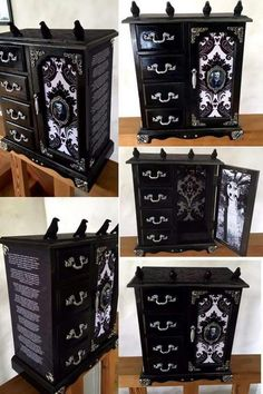 Gothic Jewelry Box Diy Edgar Allan Poe themed jewelry box by: Curiology