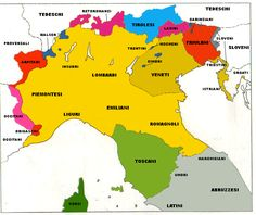 Romance languages -  northern Italy