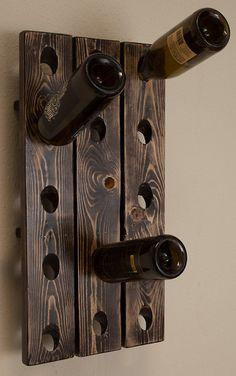 Distressed Wood Hanging Wine Rack Riddling by LeisureTeamIndustry, $64.99
