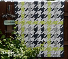 Plaid Houndstooth Quilt. Just love it!