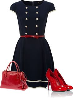 """""""simple navy"""" by poeticprincess ❤ liked on Polyvore"""