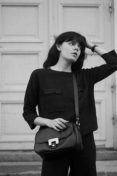 fashion worries: KNITTED Daniel Wellington Watch, Zara Shoes, Kenzo, Black And White, My Style, Bags, Fashion, Black White, Handbags