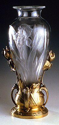 Iris Vase ~ J. A. Martel, c. 1905,: