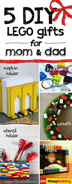 Snowed in? School canceled? No need to worry with these great activities for kids this winter season! They can build the best of everything with LEGO bricks. Napkin and utensil holders, keychains, picture frames - you name it! And to get festive this season, build a wreath to hang on your door!