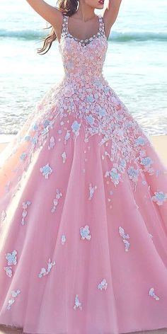 Gorgeous Floral Applique Wedding Dresses And#8211; Trend For 2016 ❤ See more: http://www.weddingforward.com/floral-applique-wedding-dresses/ #weddings