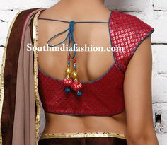 Simple and Stylish Brocade Blouse ~ Celebrity Sarees, Designer Sarees, Bridal Sarees, Latest Blouse Designs 2014