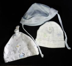 8d9bae6270d Unisex Lot of 3 Baby Hats (Beanie   Sun Hat styles) for sizes 0