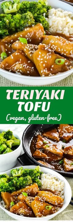 Teriyaki Tofu (Vegan, Gluten-Free) Easy and delicious, baked and not fried #tofurecipes #vegan #glutenfreerecipes