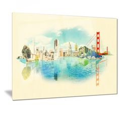Shop for Designart 'San Francisco Panoramic View' Cityscape Watercolor Metal Wall Art. Get free delivery at Overstock.com - Your Online Art Gallery Shop! Get 5% in rewards with Club O!