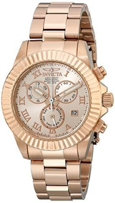 Women's Wrist Watches - Invicta Womens 18959 Angel Analog Display Japanese Quartz Rose Gold Watch ** Continue to the product at the image link. (This is an Amazon affiliate link)