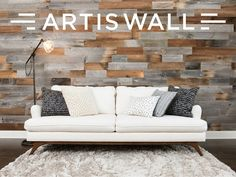 Authentic reclaimed wood planks that install in minutes and can be removed in minutes, leaving little to no damage to your walls.