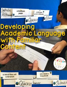 Developing Academic Language with Familiar Content | What I Have Learned