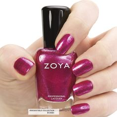 Here's your first look at Zoya #NailPolish in Bobbi - a full-coverage, hot magenta pink foil metallic.