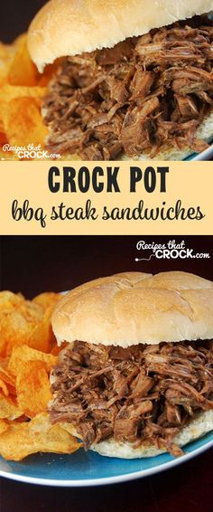 This recipe for Crock Pot BBQ Steak Sandwiches are ah-mazing! Such a great idea for an easy dinner.