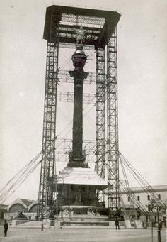 Columbus monument under construction for the 1888 Universal Expo in Barcelona. Barcelona City, Barcelona Catalonia, Old Pictures, Old Photos, Antoni Gaudi, World Photography, Beautiful Places To Visit, Travel Abroad, Best Cities
