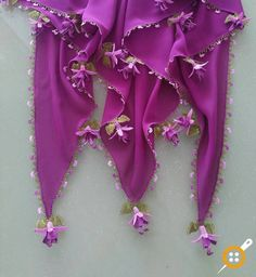 İğne Oyası Fular Yapımı - İğne Oyası Küpe Çiçeği İle Fular Yapımı